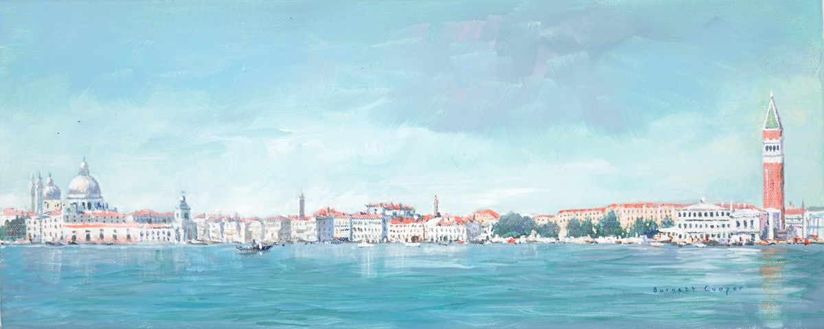 Venice Panorama by hilary burnett cooper -  sized 20x8 inches. Available from Whitewall Galleries